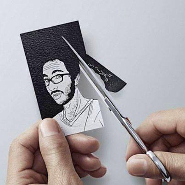 14. Bir kuaför salonu için tasarlanmış bu kart, farklı ve eğlenceli.
