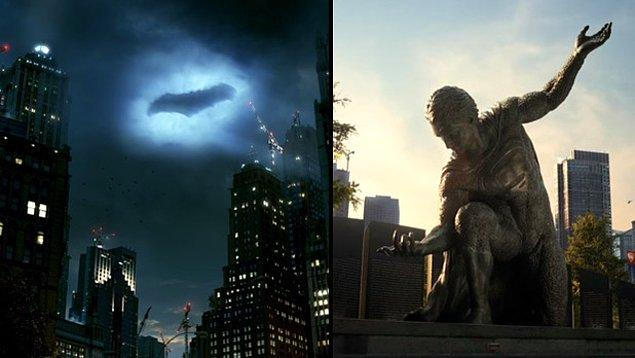 6. Batman ve Superman'in şehirlerinin ismi sırasıyla hangi şıkta doğru verilmiştir?