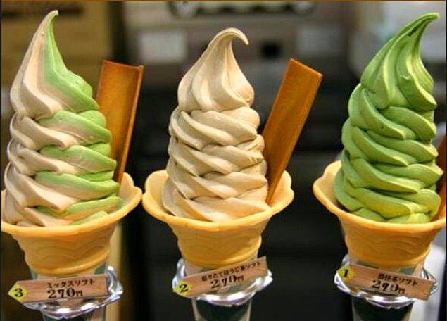9. Tokyo'da, ahtapot, karides, at eti ve inek dili aromalı dondurmalar oldukça yaygın.