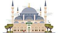 İstanbul'un En Ünlü Mimari Eserlerini Sembolize Eden Çalışmadan 12 İllüstrasyon
