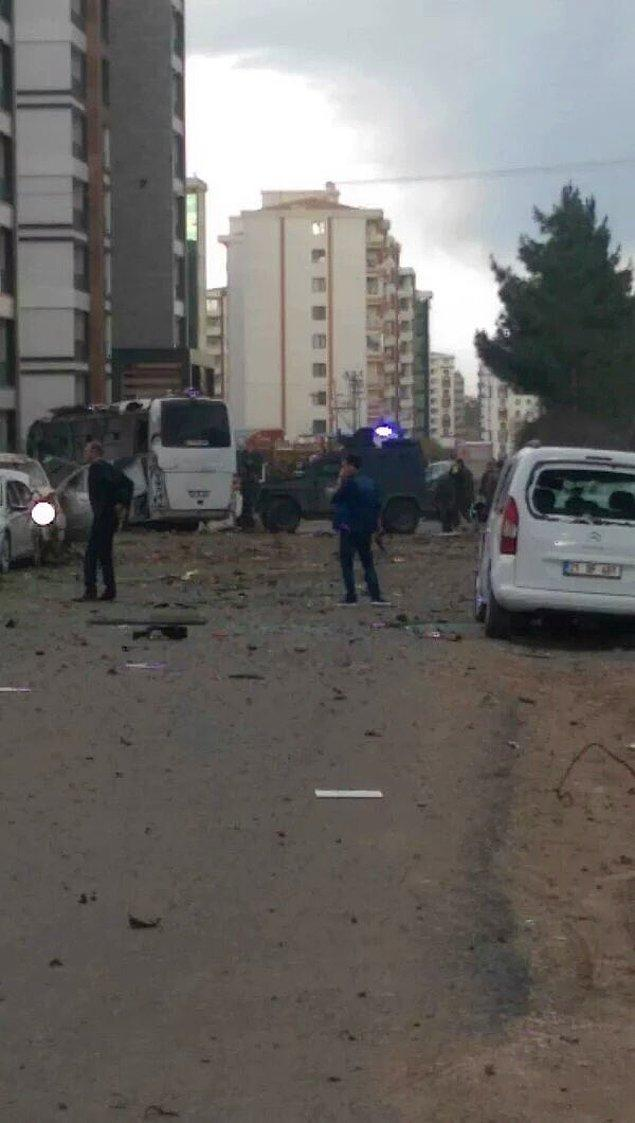Patlamanın polis servisinde yarattığı hasar