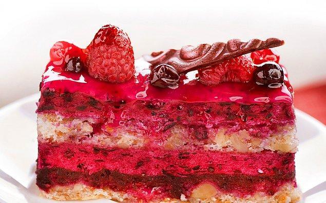 6. Süper bir vampir kek, kırmızı şaraplı