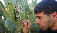 Filistin'in Yaşadığı Acıları Kaktüslere Resmeden Gazzeli Sanatçı Ahmed Yasin ile Tanışın
