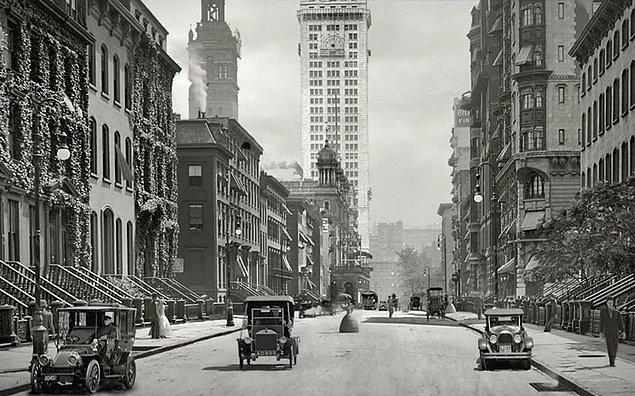 1900-1940 arasını New York, Boston, Detroit, Washington, D.C. ve Baltimore'u gösteren fotoğraflar