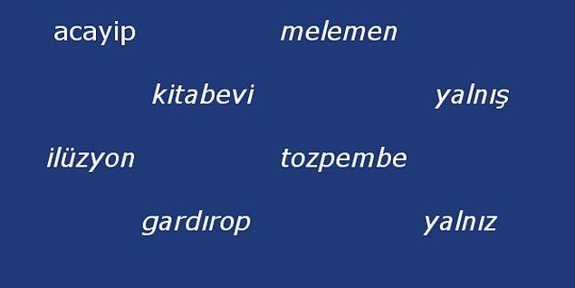 7. Görseldeki kelimelerden kaç tanesinin yazımı yanlıştır?
