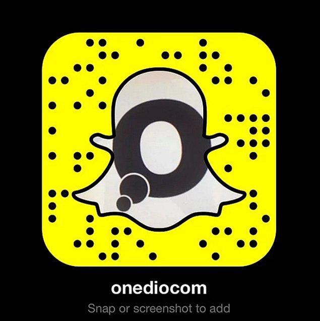 Onedio Snapchat'te!