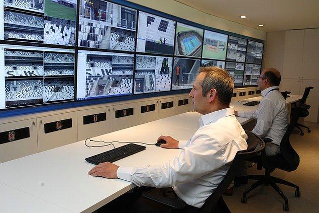8. 784 kamera ile izlenecek olan stat için toplam 20 milyon liralık bir güvenlik harcaması yapıldı.