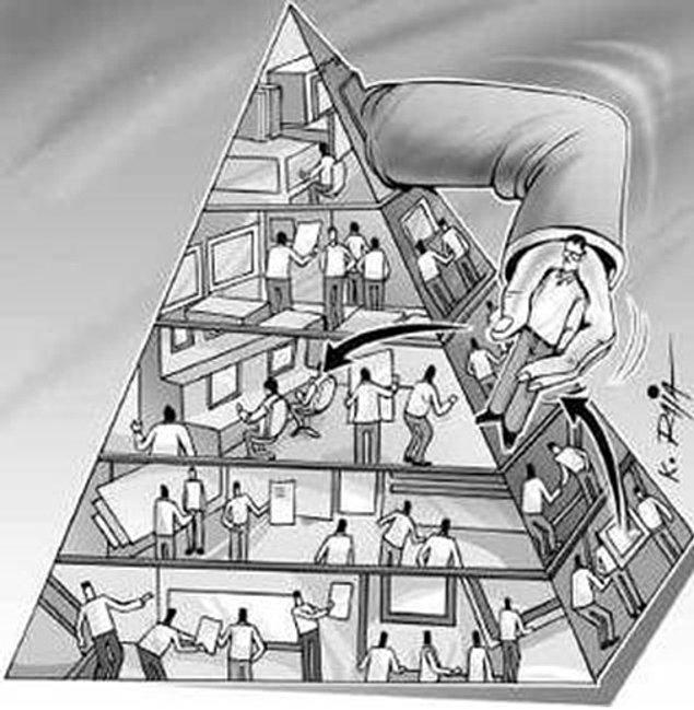 4. Peter prensibinin öngörüsü, hiyerarşideki tüm kademelerin bir noktada başarısız çalışanlar tarafından doldurulacağıdır.