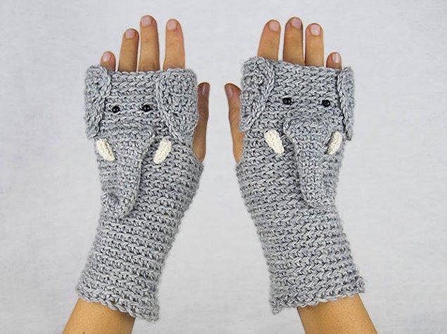 21. Sıcacık filli eldivenler
