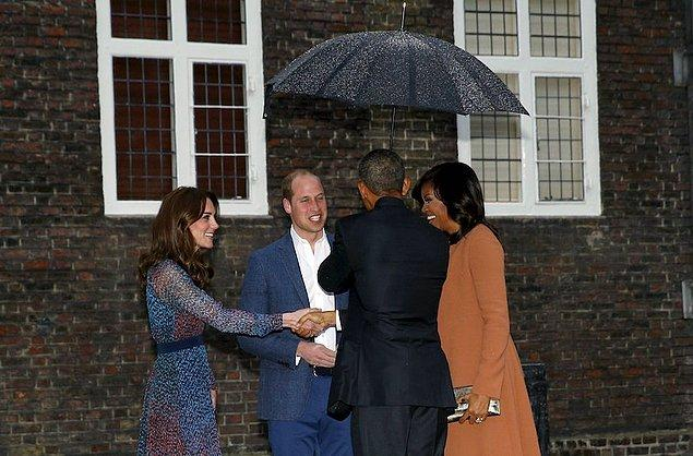 Kraliyet Ailesi, ilk kez bir Amerika başkanını ağırlıyordu.