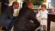 Yaşasın Çocuk Olmak: Tam Bir Minnoş Olan Küçük Prens, Obama'yı Pijamalarıyla Karşıladı!