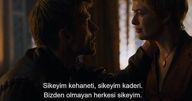 Jaime ile Cersei yine birbirlerinden güç alarak ayakta durmaya çalışıyorlar.