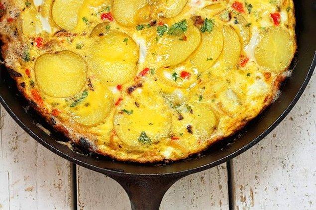 12. Patates+Yumurta+Süt+Kırmızı Biber+Maydanoz