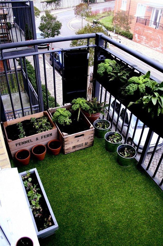 11. Ya da işleri biraz abartıp balkonu bahçeye mi çevirsek?