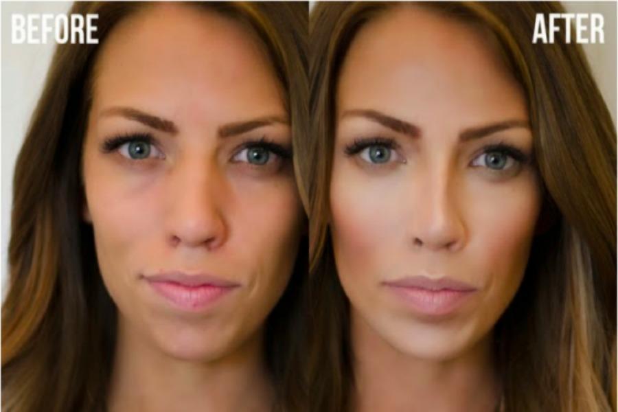 Как с помощью макияжа сделать нос уже фото