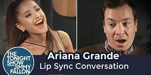 Ariana Grande ve Jimmy Fallon Popüler Şarkılara Playback Yaparak Sohbet Etti