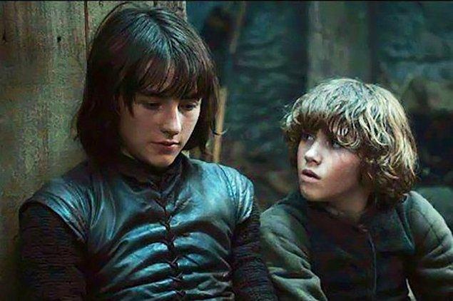 9. Bran ve Rickon Stark