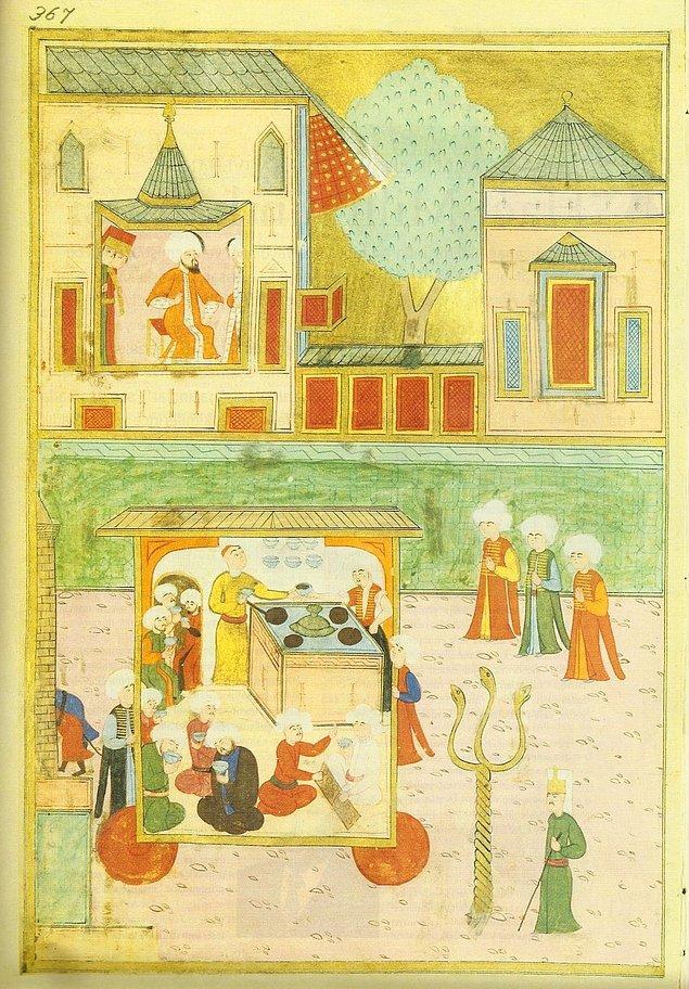 16. yüzyıldan başlayarak Türk minyatürlerinde mangalaya ait tasvirler yer almıştır.