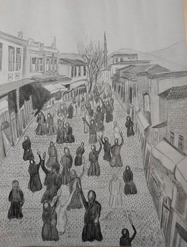 1. Tarihte bilinen ilk kadın eylemini İzmirli kadınlar gerçekleştirdi.
