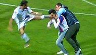Taraftar Sahaya Girip Hakeme Saldırdı Futbolcu Taraftara Uçan Tekme Attı