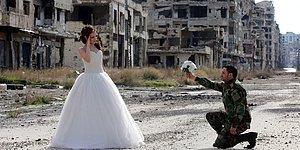 Viran İçinde Aşk: Suriyeli Çiftin Sıra Dışı Düğün Fotoğrafları