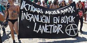 1 Mayıs Gösterileri Sırasında Polise Üstünü Aratmayan Grup Soyundu