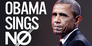 Obama'ya Demeçlerinden Meghan Trainor'ın 'No' Şarkısını Söylettiler