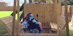 Engelli Kızı İçin Devasa Salıncak Yapan Koca Yürekli Baba