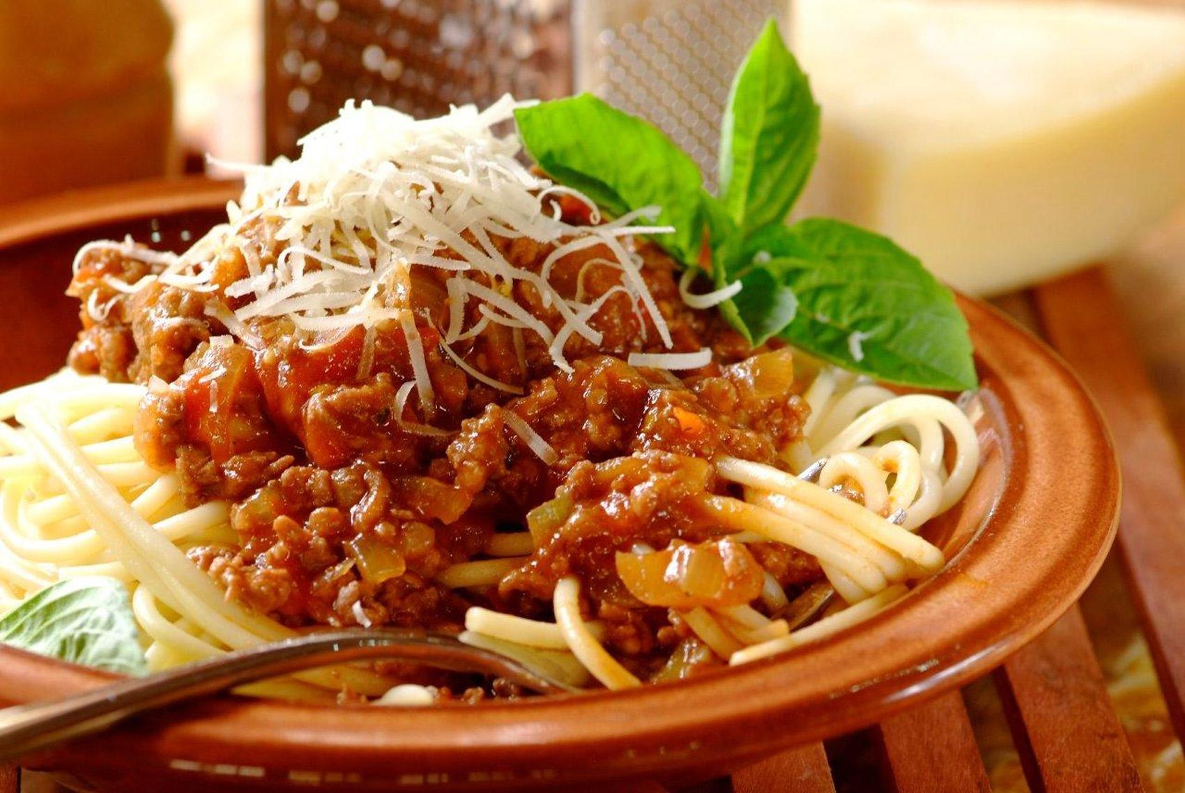 Kıymalı Patlıcanlı Spagetti