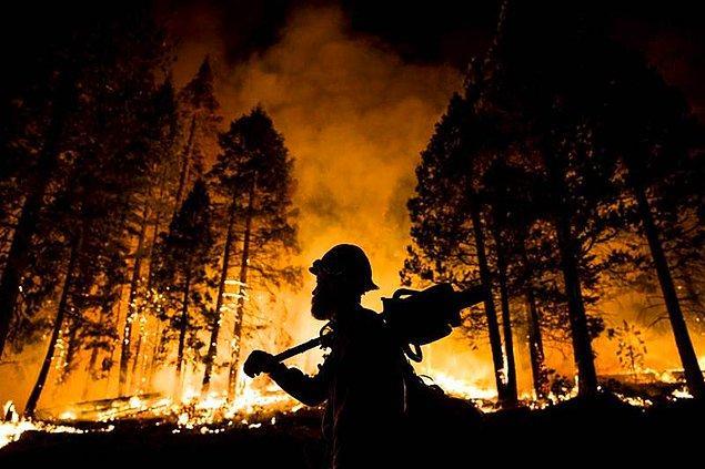 49 yangında 1100 itfaiyeci görev yapıyor...