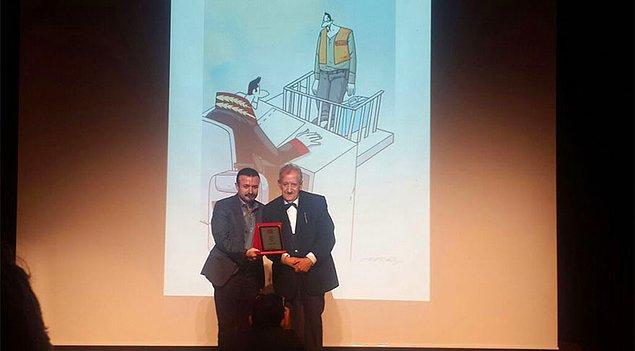 'Hukuk Firarda' adlı eseriyle Hicabi Demirci karikatür dalında ödül kazanan isim oldu