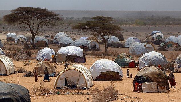 Yarım milyona yakın kişi 50 km kare alana kurulmuş kampta yaşıyor