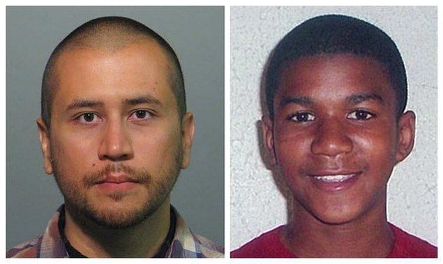 32 yaşındaki George Zimmerman solda, ve öldürülen genç Trayvon Martin.