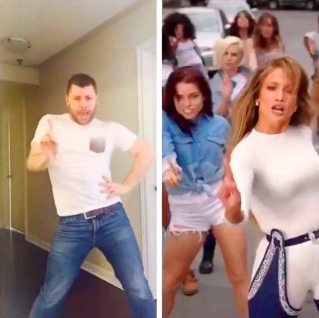 """Jennifer Lopez'in son şarkısı """"Aint Your Mama""""da performansının üstüne çıkıyor."""