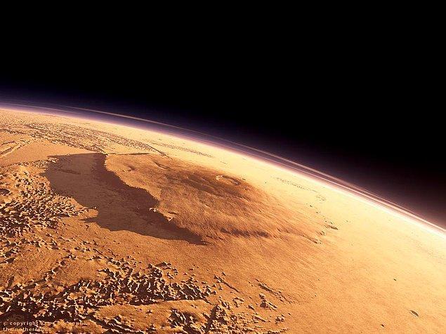 3. Bilinen en yüksek dağ, Mars'ın yüzeyinde yer alan 24 kilometrelik Olympus Mons'dır. Bu yükseklik, Everest Dağı'nın yaklaşık olarak üç katına eşittir.