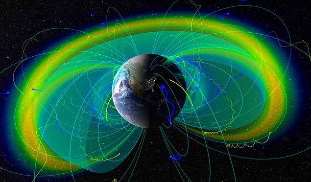 11. Gezegenlerin manyetik alana sahip olmalarının sebebi, çekirdeklerinde yer alan sıvı demirdir.