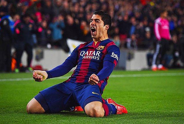 2008-09 sezonundan beri Messi ve Ronaldo haricinde gol kralı olan ilk isim Suarez