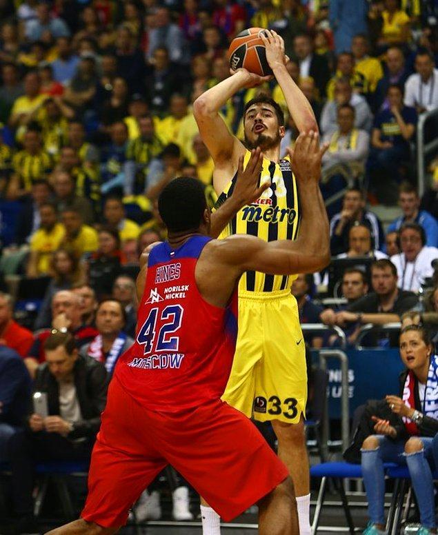 İlk Çeyrek Sonucu   Fenerbahçe 20-22 CSKA Moskova
