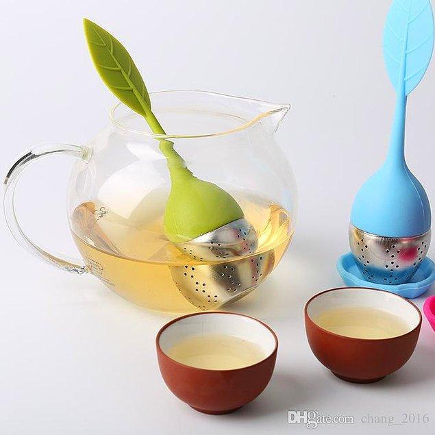 9. Lale Başlıklı Çay Demleyeci