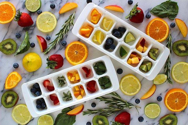 15. Son olarak meyvelerle suyu bile birleştirebilirsiniz!