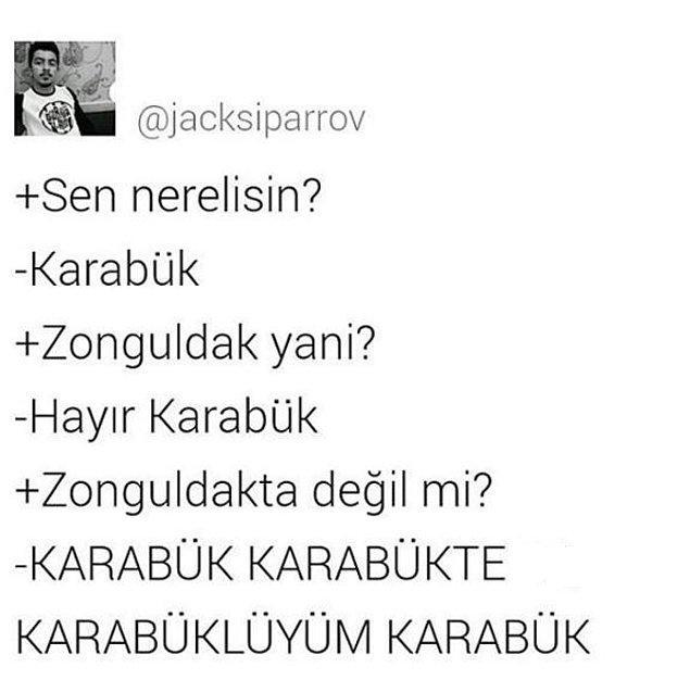 2. Zonguldak Karabük değil sadece Karabük...
