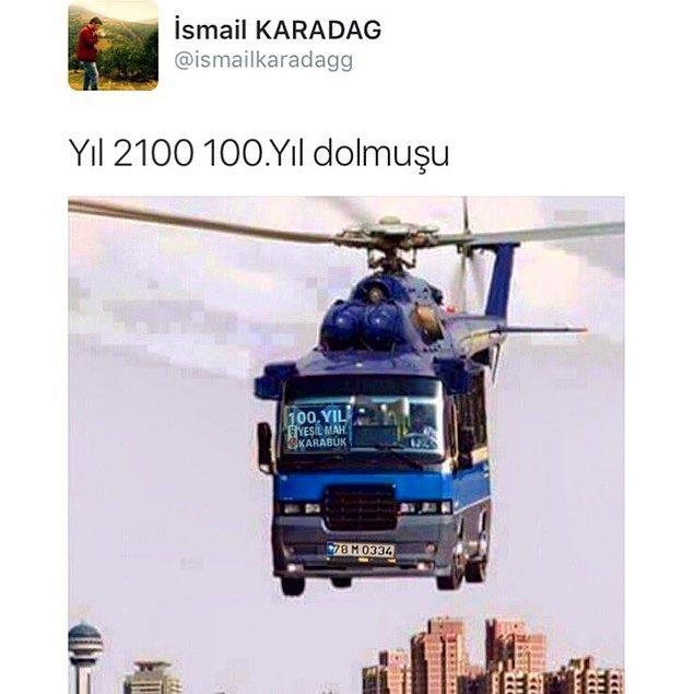 19. Karabük'te minibüs halk için uçak kıymetinde.