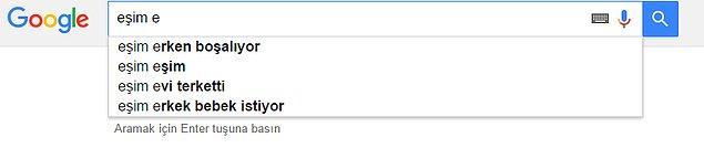 Google'ın Türk erkeğine kurduğu bir komplo. Bu aramaya uymuyoruz, saygı da duymuyoruz.