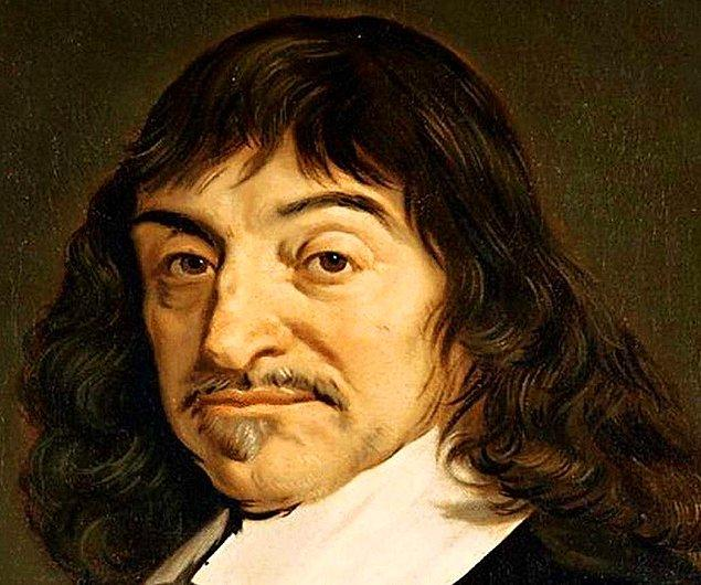 """3. """"Düşünüyorum o halde varım"""" cümlesiyle zihinlere kazınan Descartes, analitik geometriyi gördüğü bir rüyanın ardından geliştirdi."""