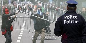 Brüksel'de 60 Bin Kişinin Katıldığı Gösterilerde Olaylar Çıktı