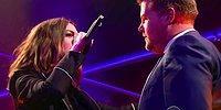 Anne Hathaway, James Corden'a Karşı Kapıştığı Düelloda Rap Yeteneğiyle Ağızları Açık Bıraktı