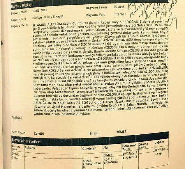 Sanığın abisi Cumhurbaşkanı Erdoğan'a mektup göndermişti...