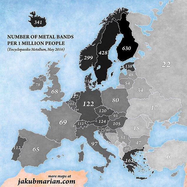 Haritanın en karanlık bölgesi İskandinavya