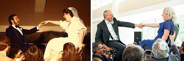 23. 1982'de evlenen çift kızlarının düğününde!