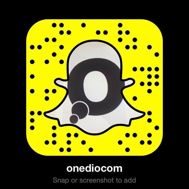 Bonus: Onedio'yu da Snapchat'te takip etmeyi unutmayın :)